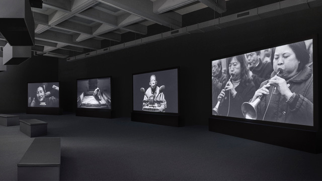Realm of Reverberations, Chen Chieh-jen,  2014, Blu-ray disc, black and white, sound,   four-channel video installation,   about 23 minutes for each continuous loop,