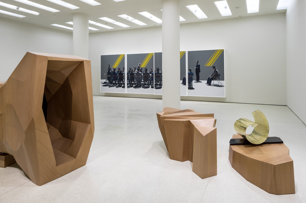 Exhibition view - Wang Jianwei: Time Temple October 31, 2014–February 16, 2015, Guggenheim Museum, NY